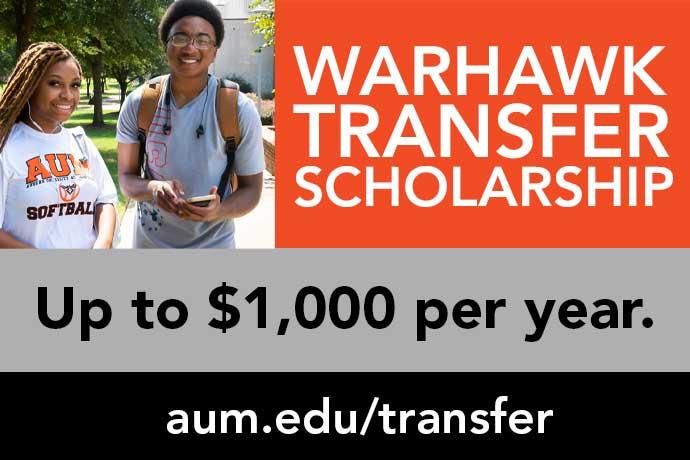 Auburn University Montgomery Warhawk Transfer