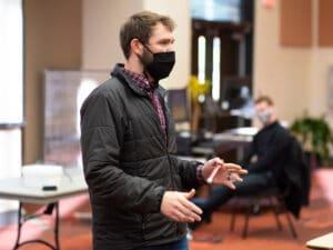 AUM Kinesiology faculty member Brett Davis teaches a recent class