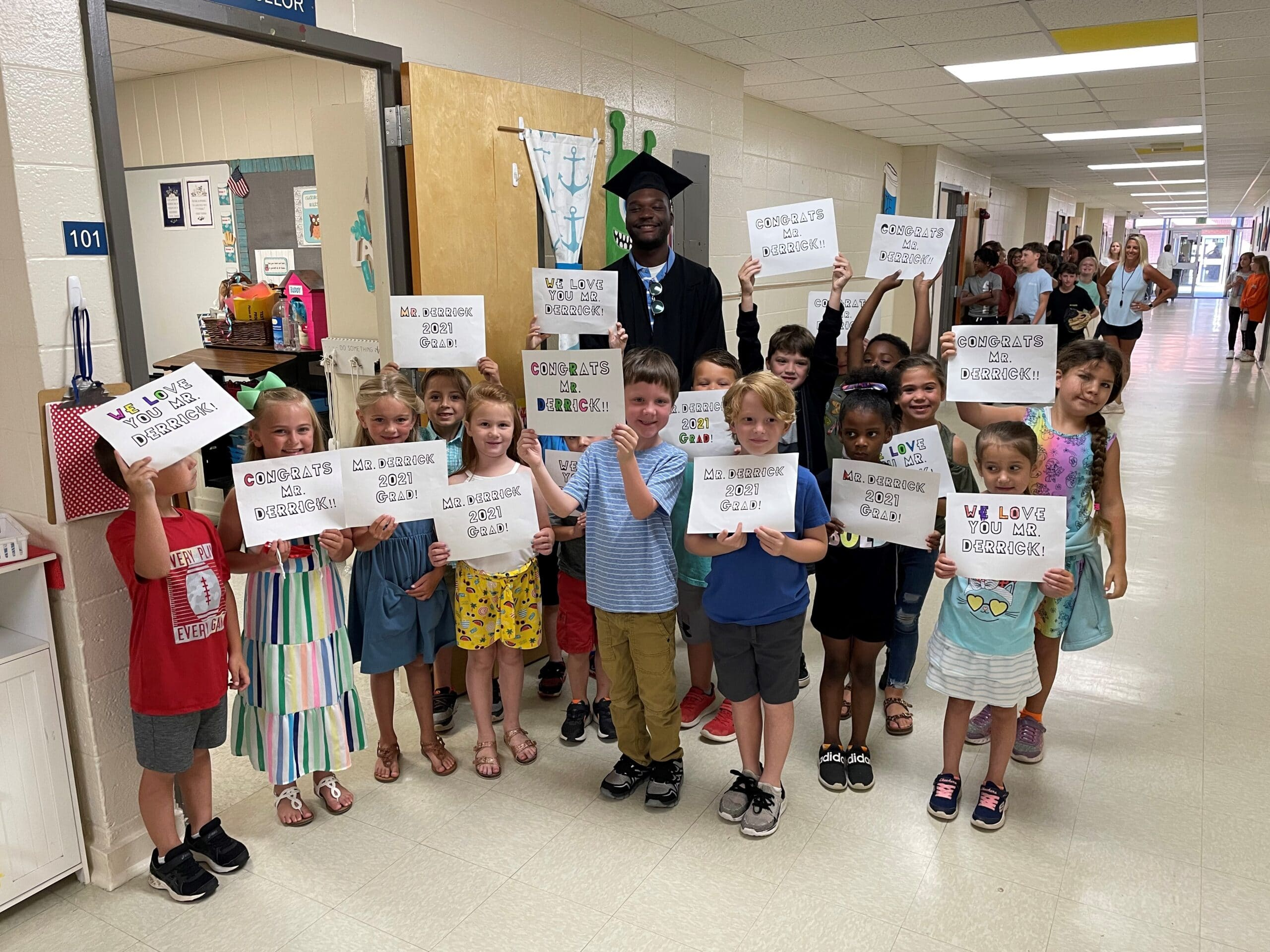Beloved school custodian Derrick Harris begins new chapter at AUM