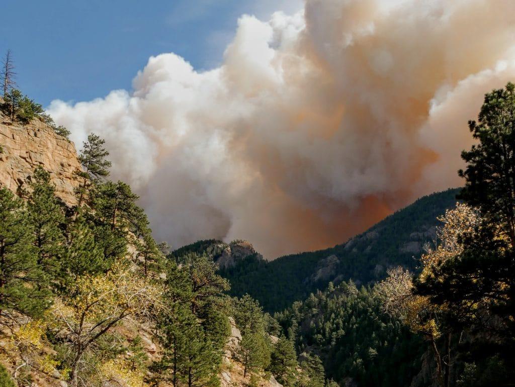 Smoke from wildfire